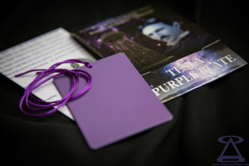 Small Tesla Purple Plate